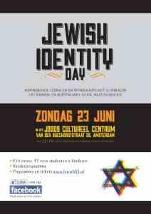 Jewish Identity Day,  zondag 23 juni het JCC.
