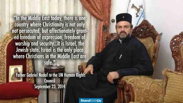 foto 2 Father Gabriel Nadaf, christenen israel, vn