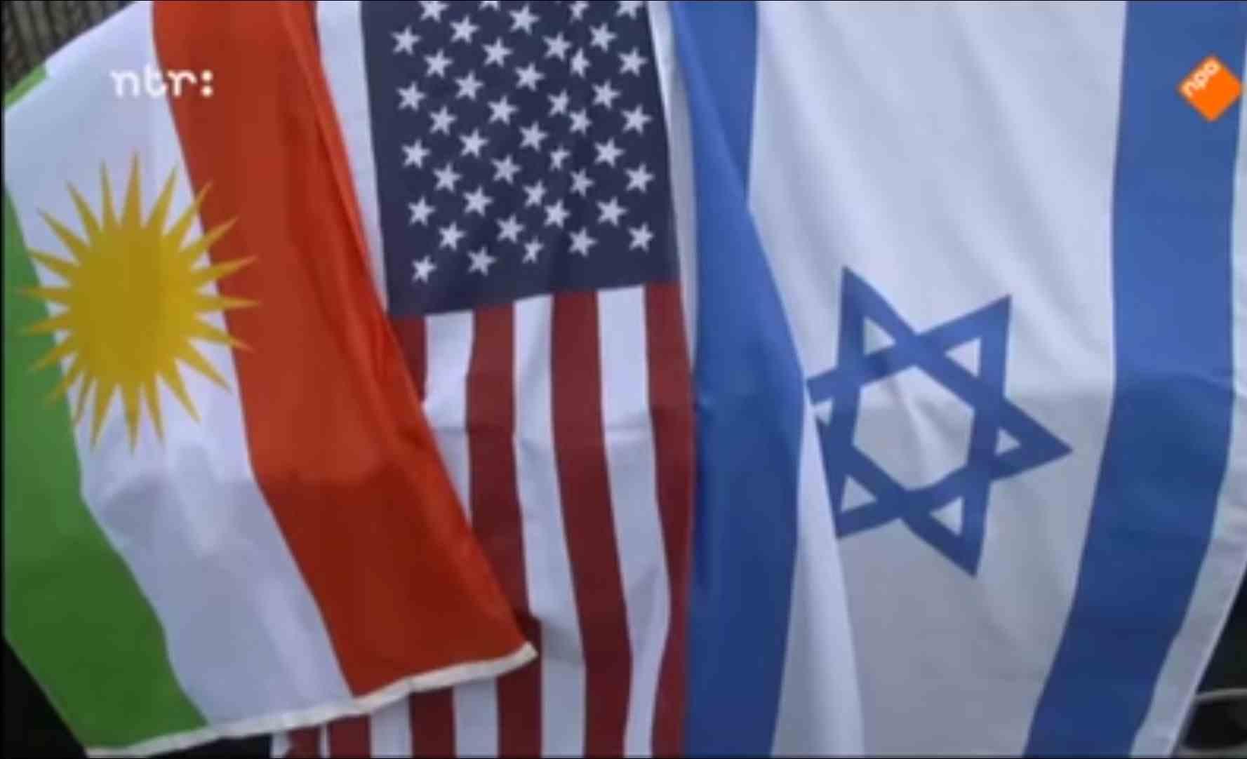 Vlag van Koerdistan, Verenigde Staten en Israël