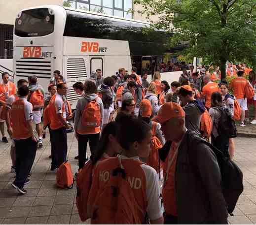 De 110-koppige Nederlandse delegatie van de Maccabi Games.