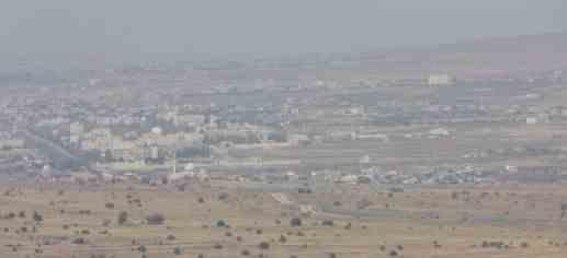 Het uitzicht over Syrië vanaf de Golan