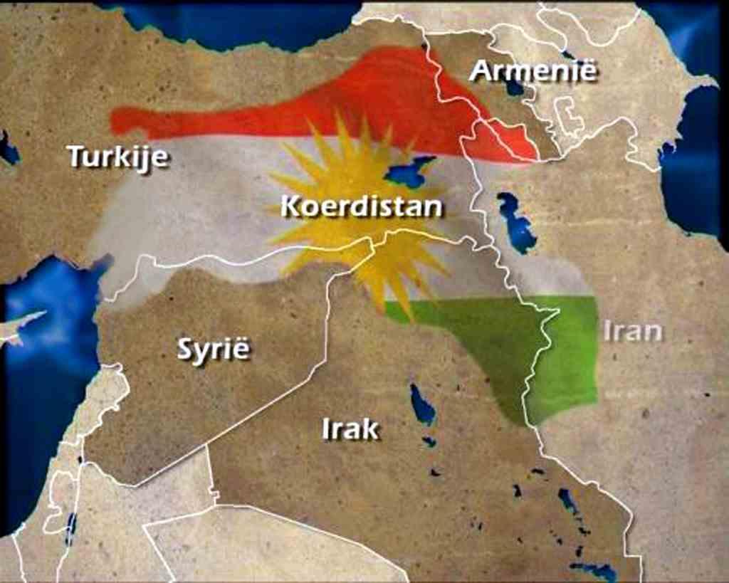 kaart koerdistan koerden kurdistan