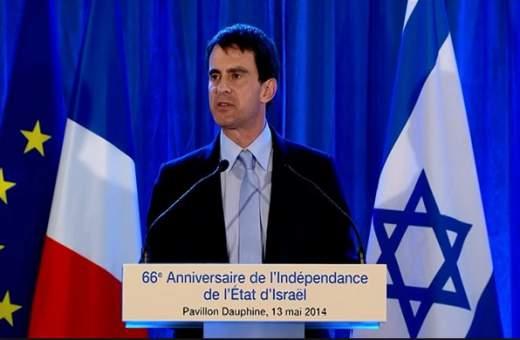 Premier Valls bij de viering van 69 jaar Israel.