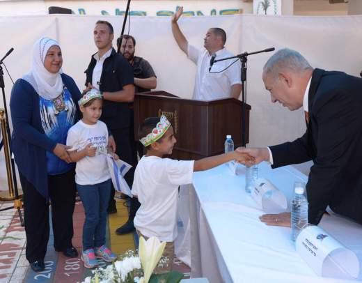 Netanyahu bezoekt Arabische school in Israel