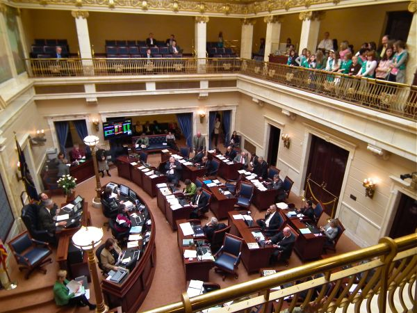 Girl Scouts visit the Utah State Legislature