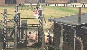 Groep slacht schaap Auschwitz