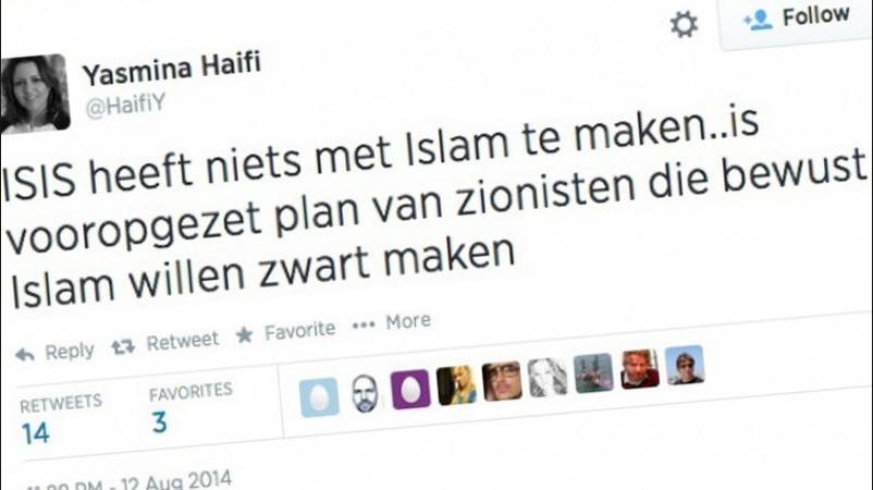 Yasmina Haifi over ISIS en zionisten op Twitter