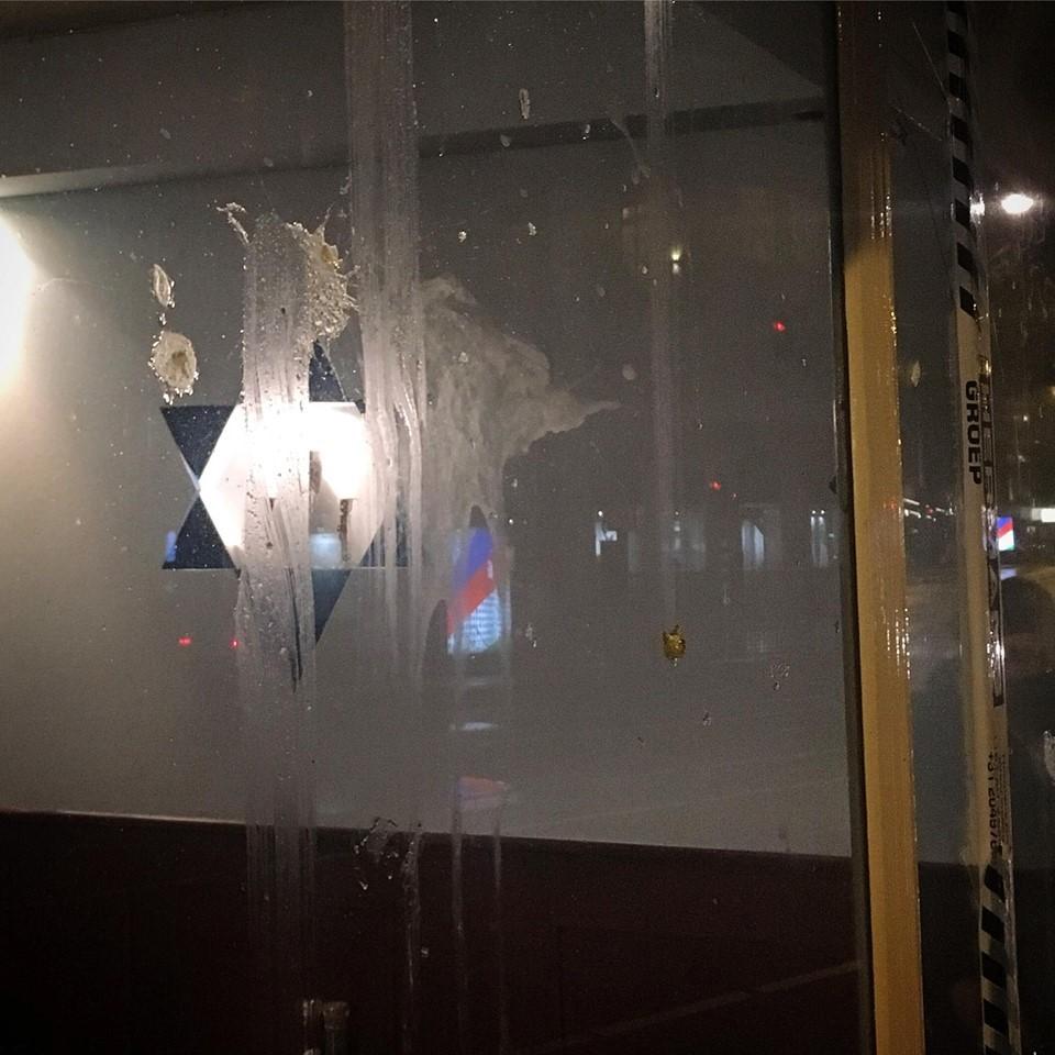 Joodse restaurant HaCarmel opnieuw belaagd.