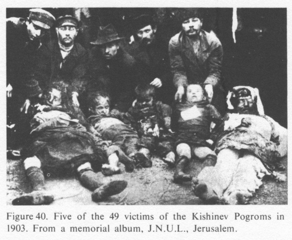 Foto van slachtoffers van de Kishinev pogrom