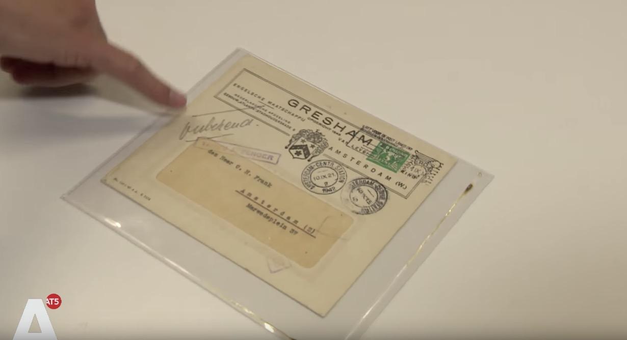 Corinphila Veilinghuis - Ongeopende aan Otto Frank geadresseerde brief - Nathan Bouscher