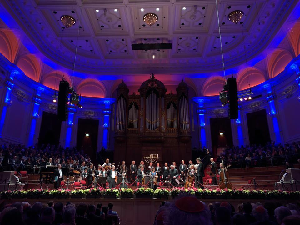 Joods concert in de Grote Zaal van Het Concertgebouw