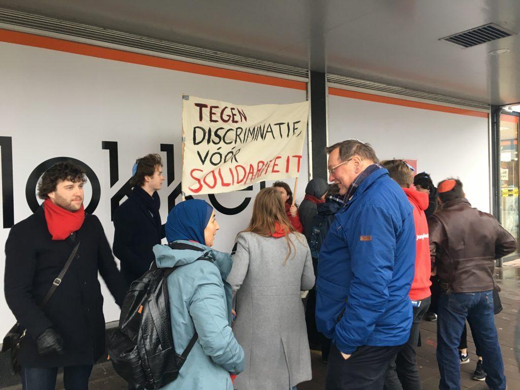 Jonge Socialisten protesteren tegen antisemitisme in Utrecht