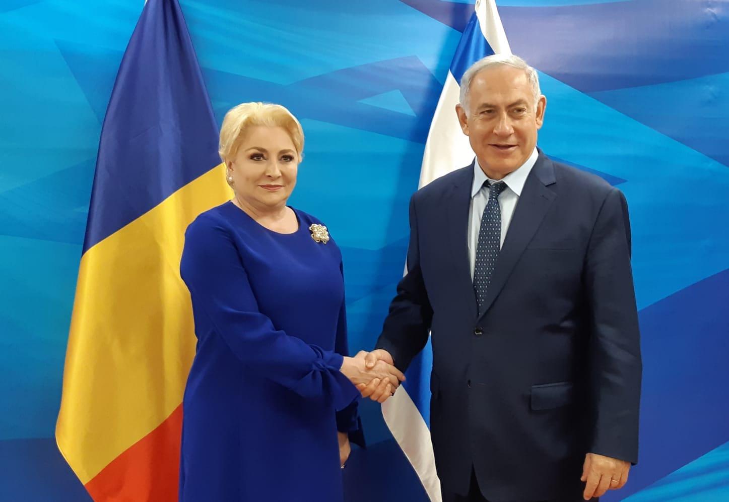 Netanyahu kreeg bezoek van Roemeense premier Vasilica-Viorica Dăncilă