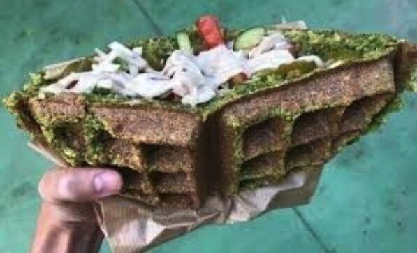 Belgische falafel wafel populair in israel