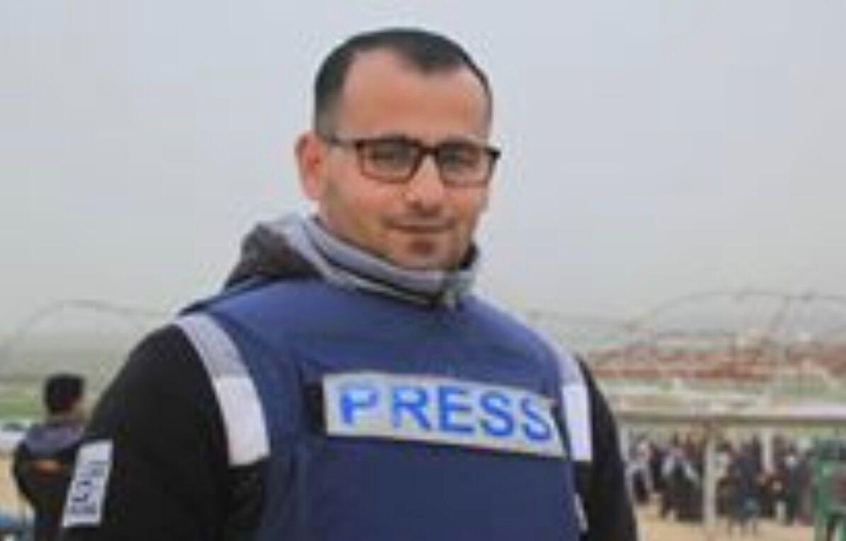 Musa Alla, Hamas terrorist uit Jabalia, Gaza, in Press vest