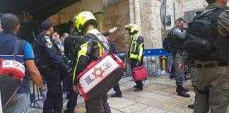 Plek van aanslag in de Oude Stad van Jeruzalem. Foto: Magen David Adom